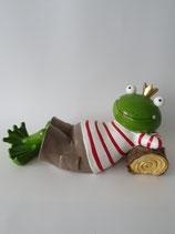 Figur Froschkönig liegend