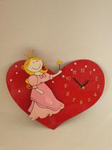Uhr Prinzessisn mit Herz 3D