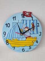 Uhr Pirat mit Schiff