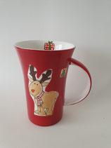 Coffee Pot Gustav braun auf roter Tasse