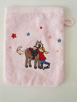 Waschhandschuh Pferd