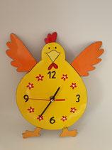 Uhr Huhn gelb