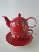 Tea for One Gustav rot braun
