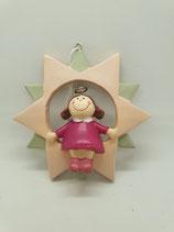 Engel klein pink in rosa Stern