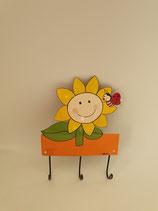 Haken Sonnenblume mit drei Aufhängern