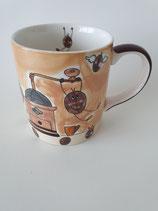 Becher Kaffebohnen Mühle