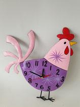 Uhr Huhn rosé lila