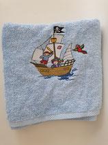 Badetuch klein Piraten mit Schiff