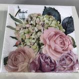 Blumenstrauß rosé - Servietten