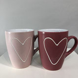 Kaffeebecher Herz- 2 Varianten