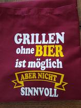 "Kochschürzen  ""Grillen ohne Bier"""