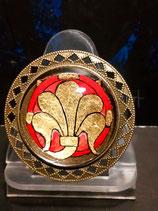 Broche Fleur de Lys (rouge et or)