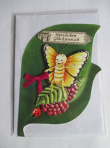 Grußkarte Kindergeburtstag Schmetterling