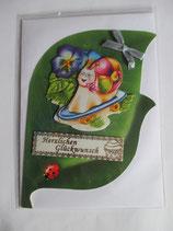 Grußkarte Kindergeburtstag Schnecke