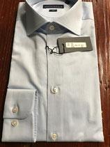 Camicia uomo cotone 100% slim Azzurra