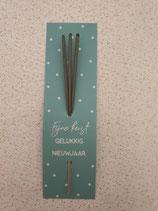 Sterretjeskaart Fijne kerst gelukkig nieuwjaar turquoise