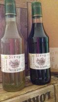 Lot de 2 bouteilles de sirop :  baies de  Sureau  et fleurs de sureau