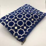 Textil Kosmetik Tasche klein, blau