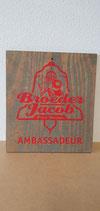 Broeder Jacob bier reclamebord hout