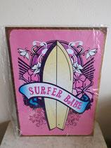 Wandbord Surf babe