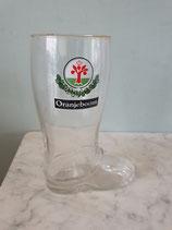 Oranjeboom bier laars glas