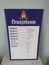 Oranjeboom bier prijslijst / reclamebord