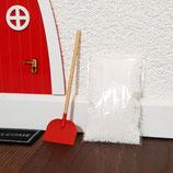 Schneeschaufel +  2g Kunstschnee