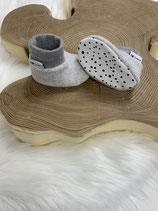 Fleece-Booties grau