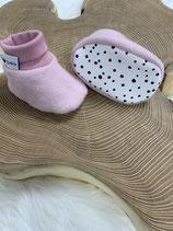 Fleece-Booties rosa