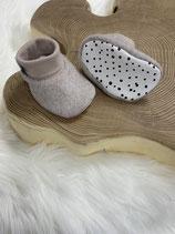 Fleece-Booties beige