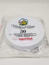 PIATTI DESSERT PZ.50 PLASTICA ARISTEA