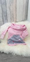 Sweatshirt rosa mit tollem Kragen und Bauchtasche