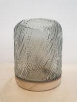 Windlicht glas / hout