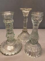 Glas Kerzenständer Set 2