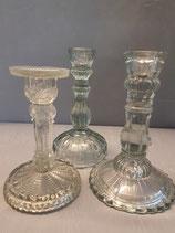 Glas Kerzenständer Set 1