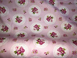 Half-Panama, rosa Blumen