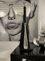 Colmore Schuhanzieher Design Lilie Silber schwarz