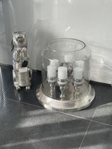Kerzenhalter 7 Lichter mit Glas ALU RAW / NI 53x53x53