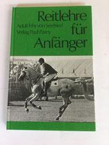Seefried Adolf Frhr. von, Reitlehre für Anfänger (antiquarisch)