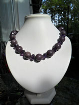 Lepidolith-Amethyst Collier