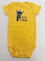 Body kleiner Prinz dunkelgelb Grösse 74/80