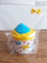 Cup Cakes türkis/dunkelgelb