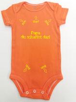Body Papa du schaffst das orange Grösse 68/74