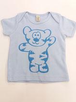 Tegerbär T'Shirt hellblau Flockdruck
