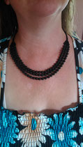 Halskette Lava * 3-Reiher