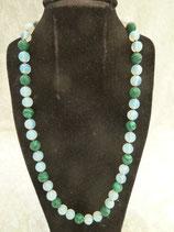 Halskette Opalit & Malachit