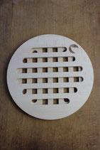 Untersetzer, geschlitzt - rund oder quadratisch + Logo plastikfrei-angel