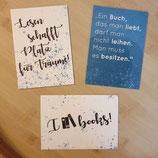 "Lesezucker Postkartenset ""Buchliebe"""