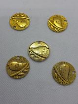 Vogel in gold