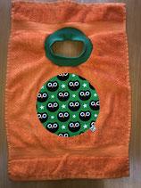 XL-Latz Eulen auf orange
